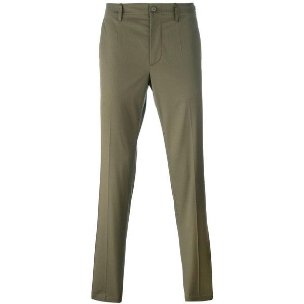 Maison Margiela Straight Leg Trousers ($259) ❤ liked on Polyvore featuring men's fashion, men's clothing, men's pants and men's casual pants