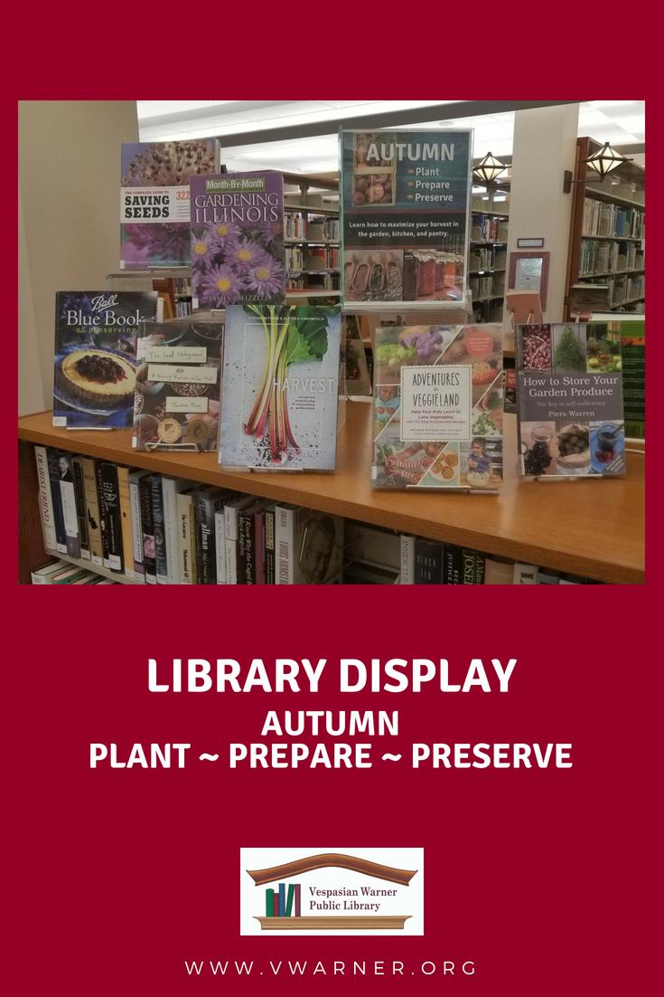 Library Book Display For Autumn Cooking Food Plant Prepare Preserve Idea Books Design Collection Library Displays Book Display Blue Books