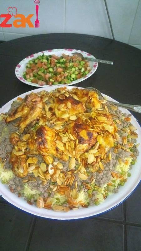 أوزي طريقة سهلة ورائعة زاكي Middle Eastern Recipes Food And Drink Rice Dishes