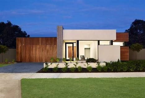 Contemporary single story house facades australia google for Single floor modern house