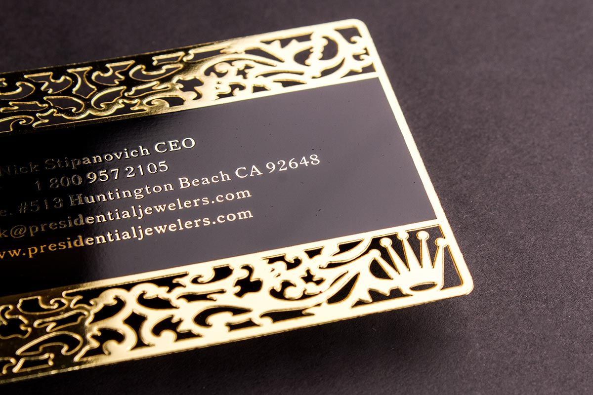 Gold Metal Business Cards Luxury Printing Metal Business Cards Luxury Business Cards Printing Business Cards