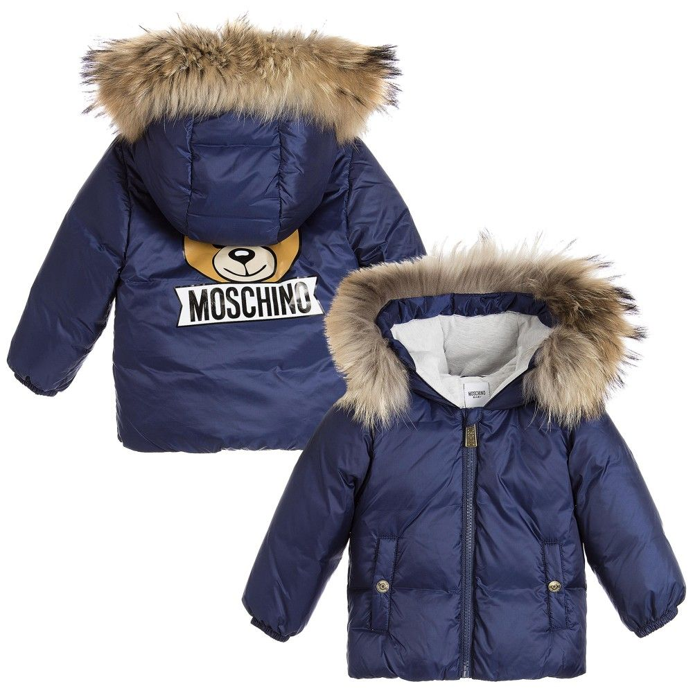 e25455468 Moschino Baby - Navy Blue Down Padded Baby Jacket