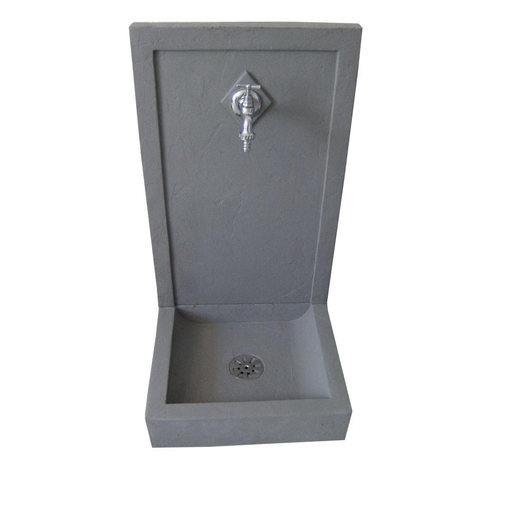 Fontaine Avalon en béton : L42 l38 H76 cm, Fontaines et accessoires ...