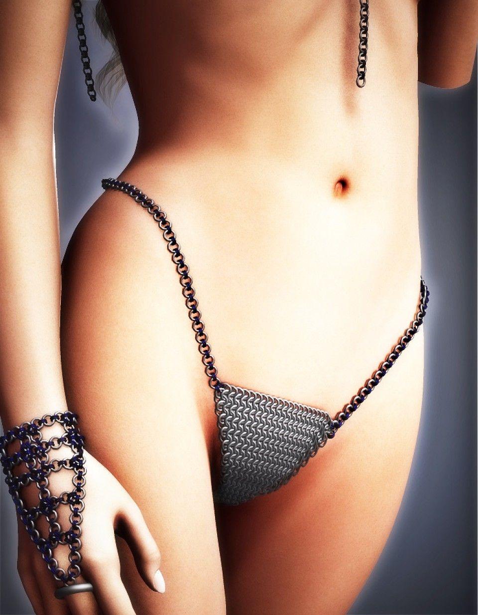 879b68f314d82 Chainmail Bikini Bottom V4 | Daz3D Clothing 1 in 2019 | Bikinis ...