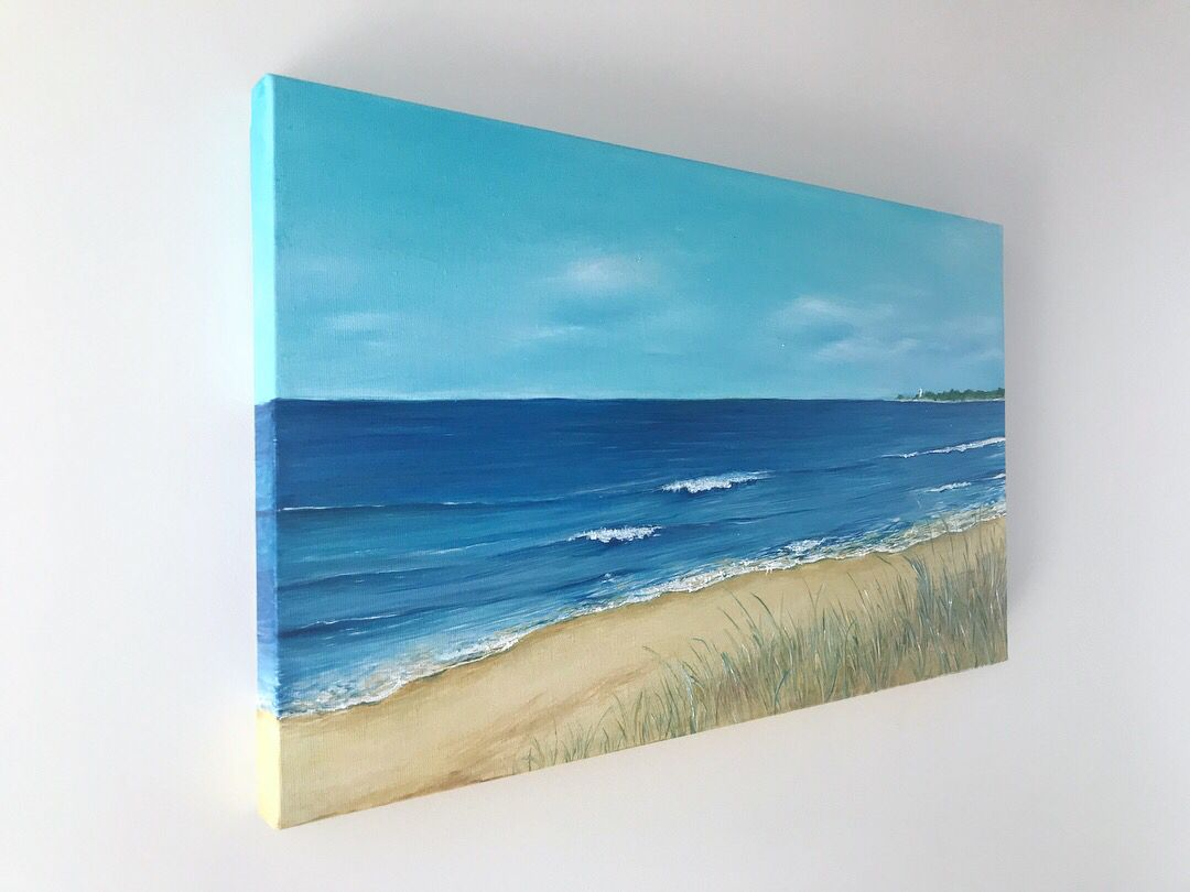 Oil Painting On Canvas Ocean Life In