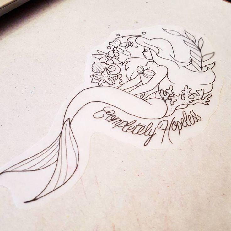 Photo of Ihr hoffnungsloses Kind Ariel Tattoo für £ 80 in Farbe Schicken Sie mir eine E…