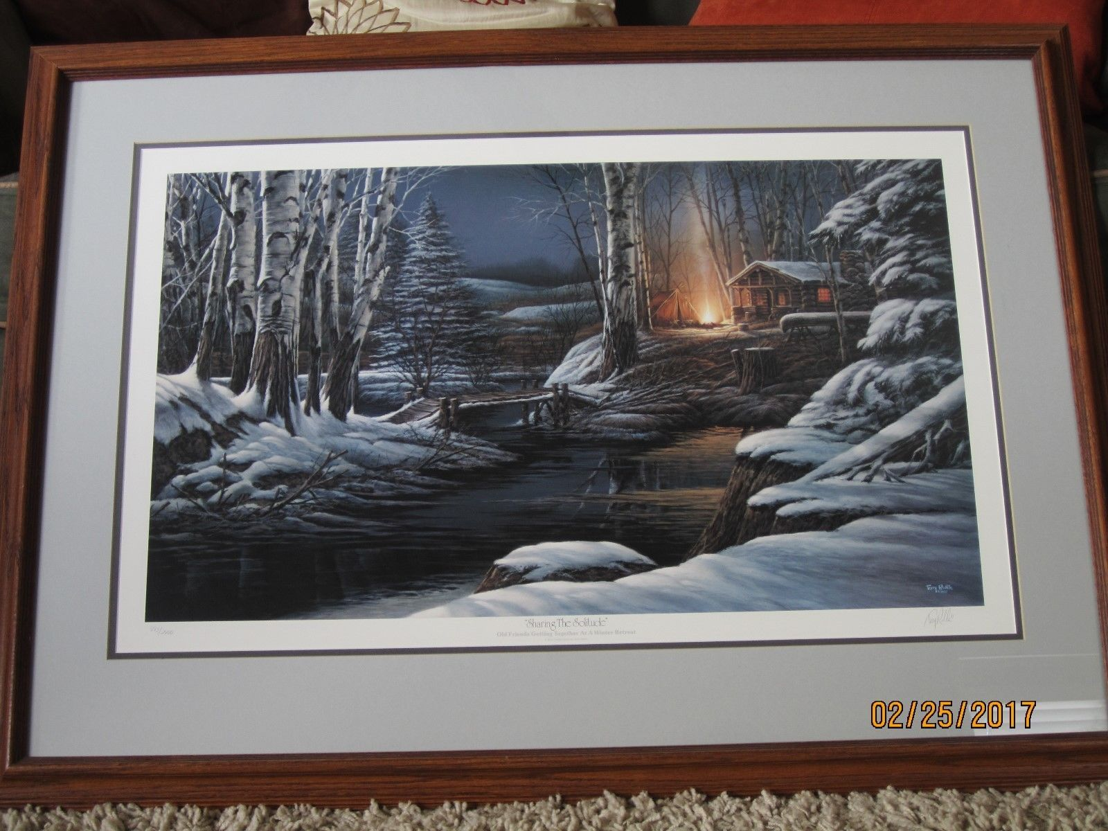 art Terry Redlin SHARING THE SOLITUDE Signed Numbered Limited Ed ...