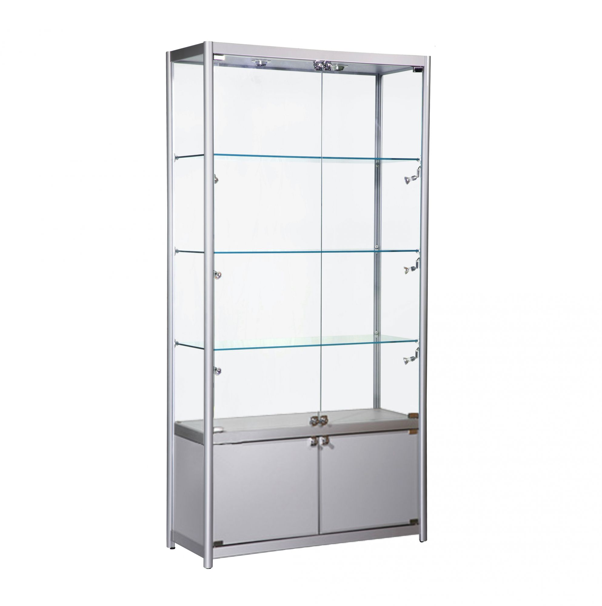 Superior Wide Glass Showcase Cabinet (with Storage)