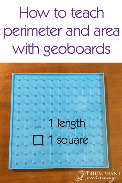 How To Teach Perimeter And Area With Geoboards   Pinterest   Fun ...