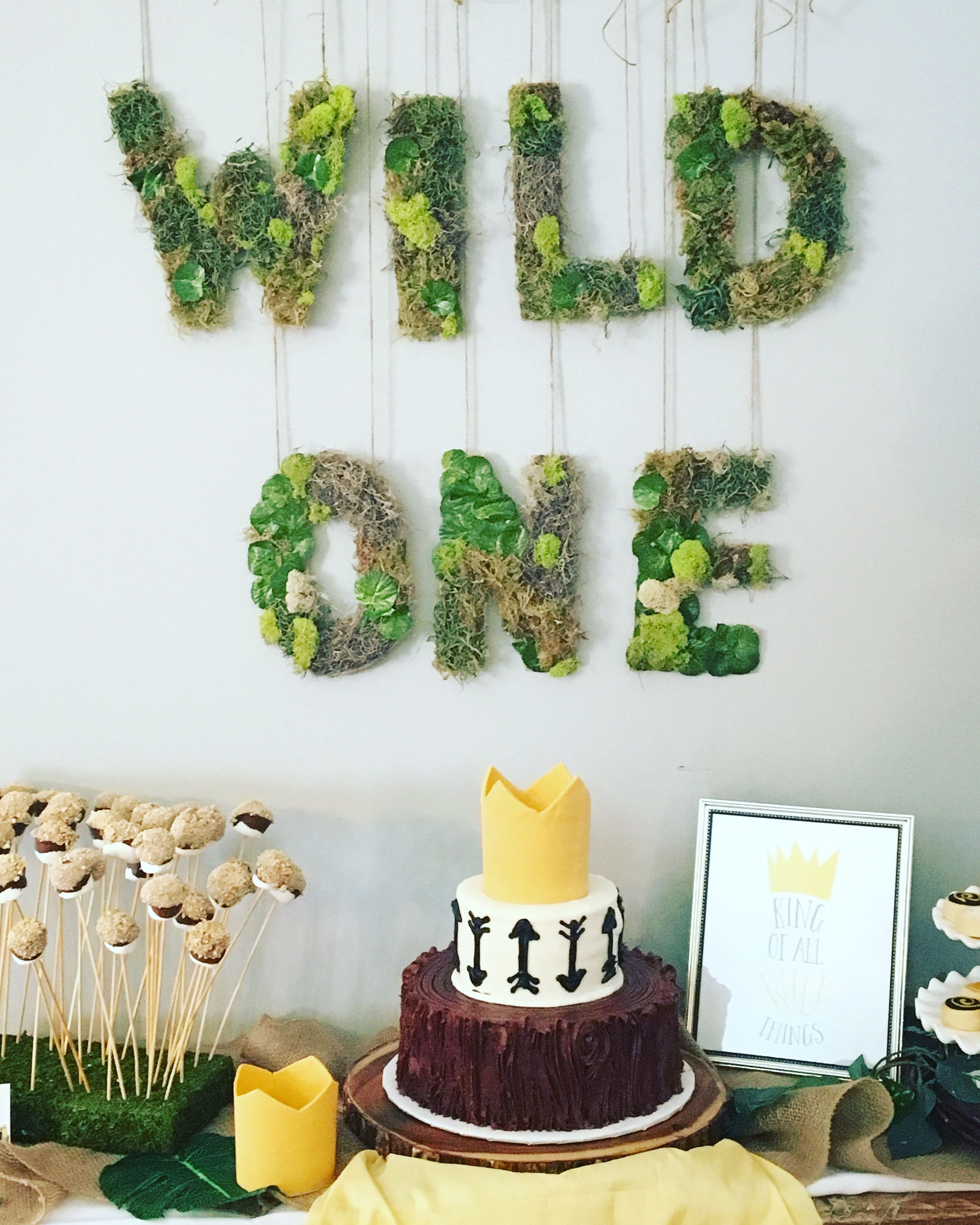 Birthday Decor Wild One Garland Baby Where the Wild Things Are Party Supplies