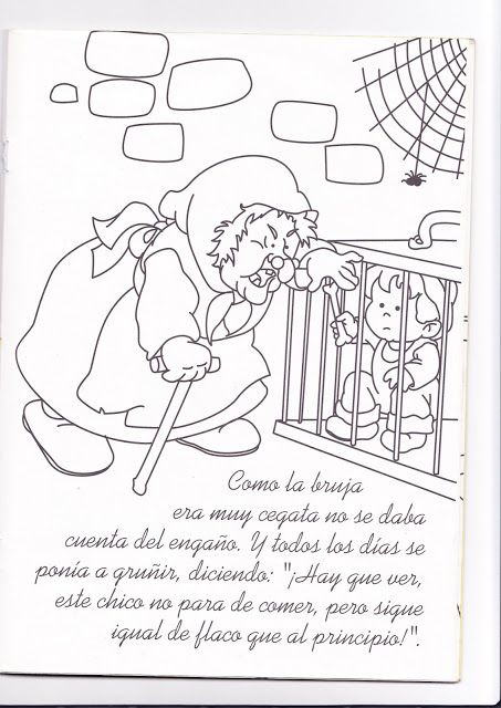 La Casita De Chocolate Colouring Pages Colouring Pages Nursery Rhymes Printable Coloring Pages