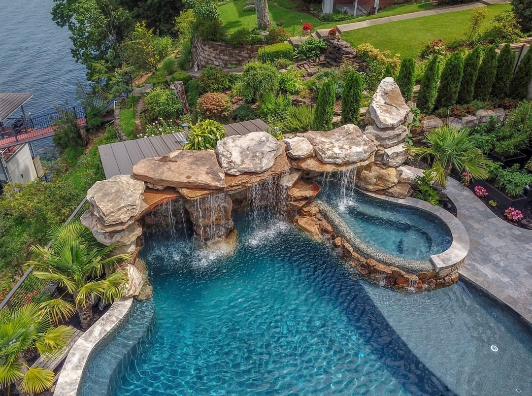 Lucas Lagoons Design On Instagram Lucas Lagoons Takes Immense Pride In Raising The Bar For Exceptiona Dream Backyard Pool Swimming Pools Backyard Dream Pools