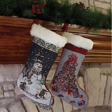 The Fiber Optic Christmas Stocking Hammacher Schlemmer