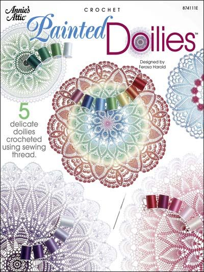 Crochet Doily Patterns Assorted Patterns Painted Doilies
