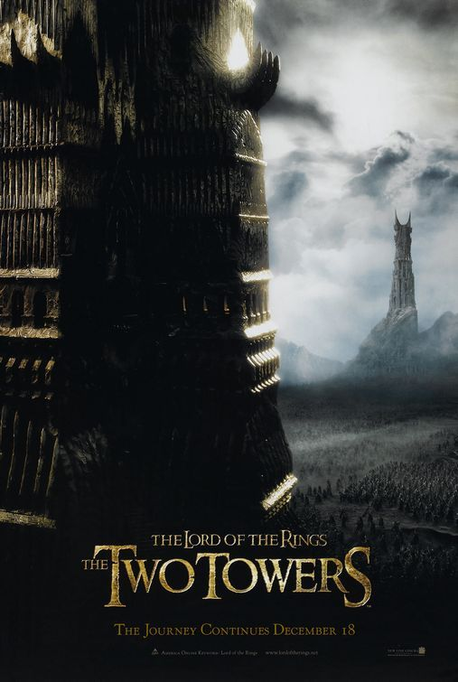 The Lord Of The Rings The Two Towers Movie Poster With Elijah Wood Elijah Wood Ian Mckellen Orlando B Il Signore Degli Anelli Signore Degli Anelli Tolkien