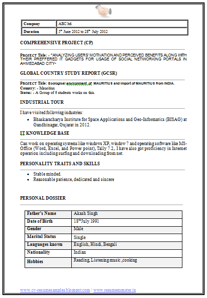 information technology latest mba it resume sample - Information Technology Resume Template