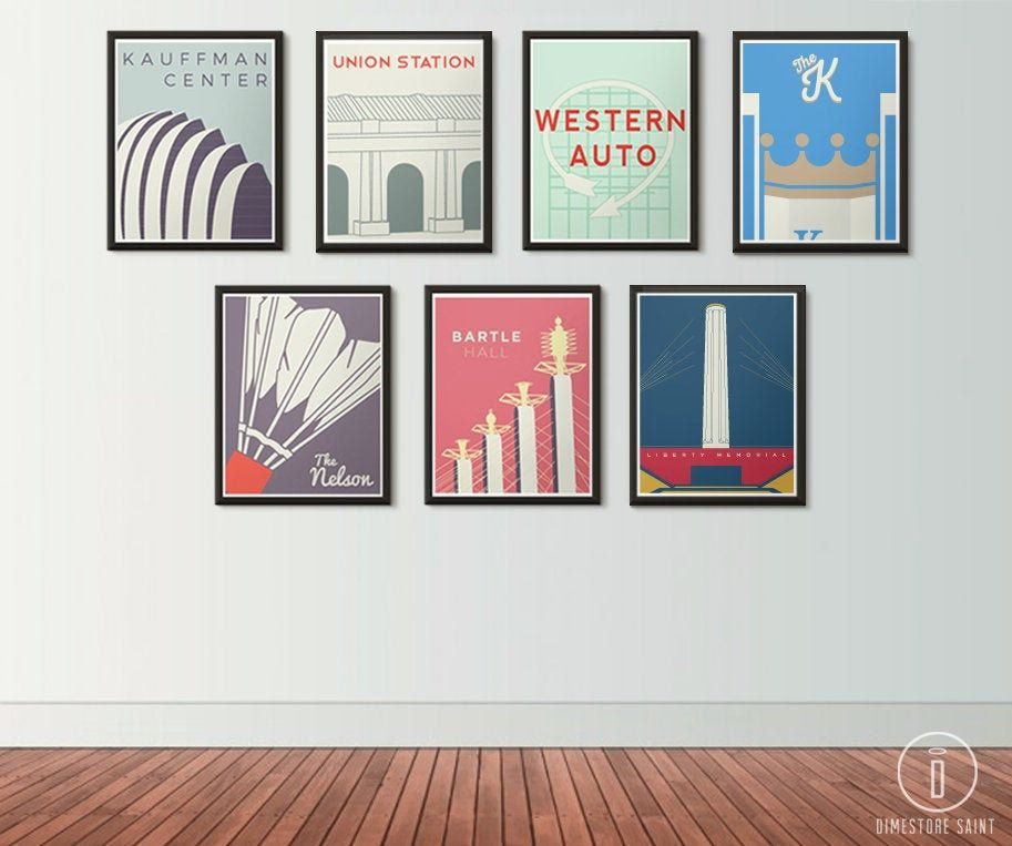 Kansas City Icons Series Posters