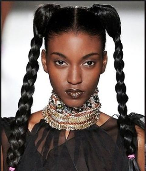 Image result for pigtails hair for africans