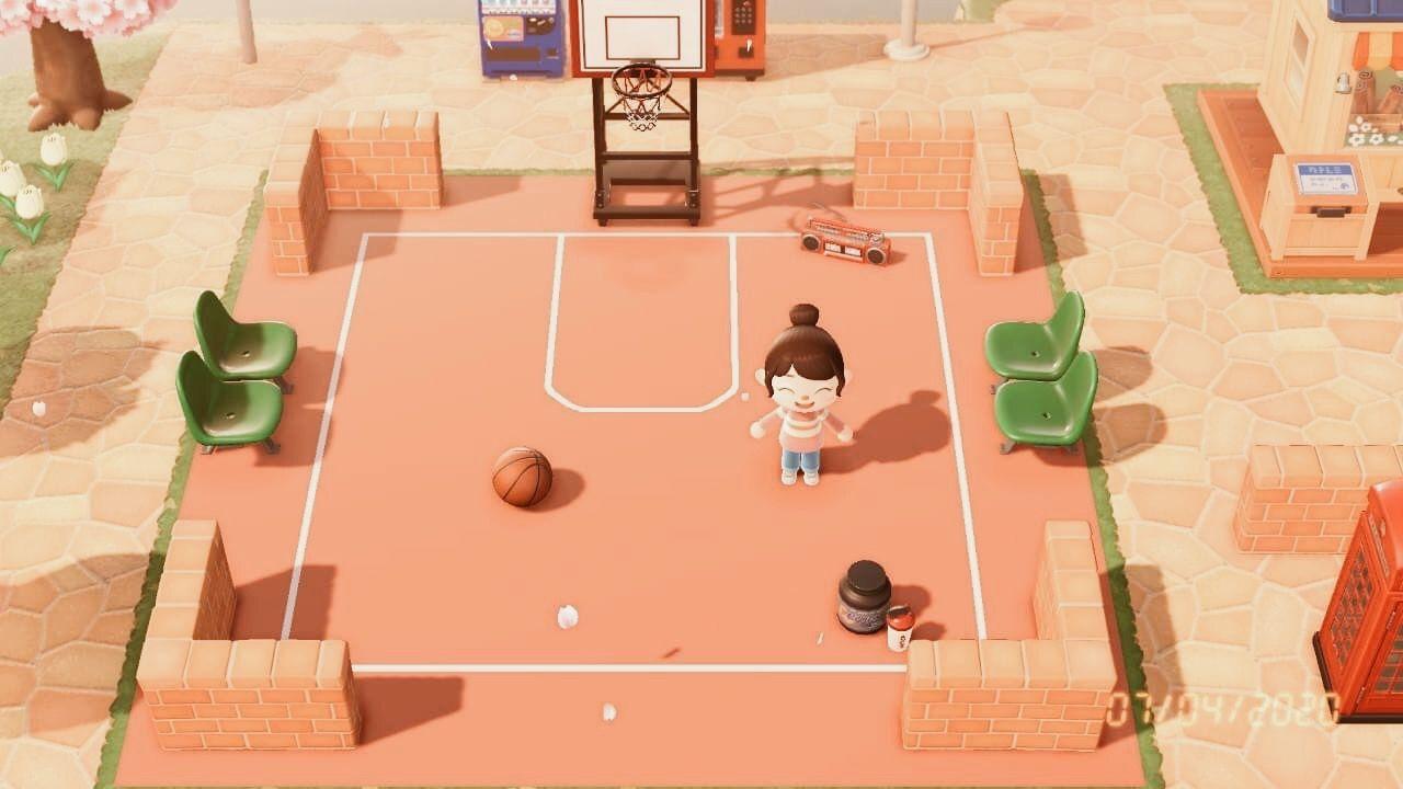 Basketball Court In 2020 Animal Crossing Animal Crossing 3ds New Animal Crossing