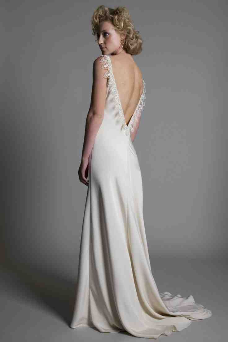 Satin backless wedding dress satin wedding dresses pinterest