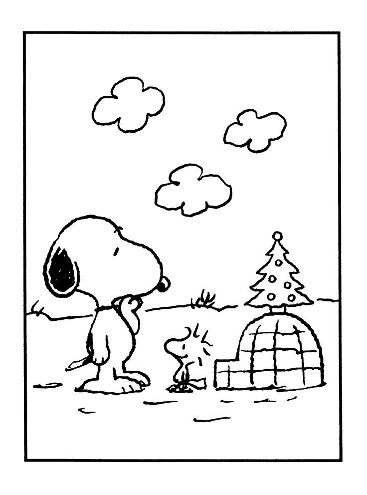 Snoopy and Woodstock | Adult and Children\'s Coloring Pages | S ...