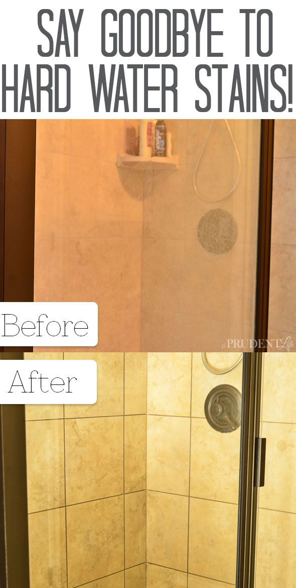 How to Clean Shower Doors With Hard Water Stains | Hard water ...