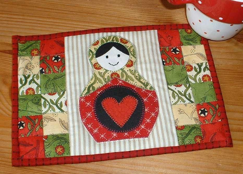 Russian Doll Mug Rug By The Patchsmith Quilting Pattern Looking For Your Next Project You Re Going To Love Designer