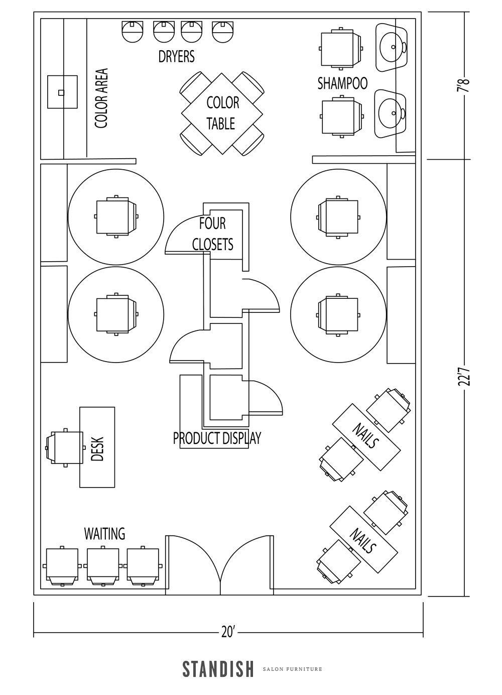 5 Amazing Salon Floor Plan Designs Hair Salon Design Beauty Salon Design Salon Design
