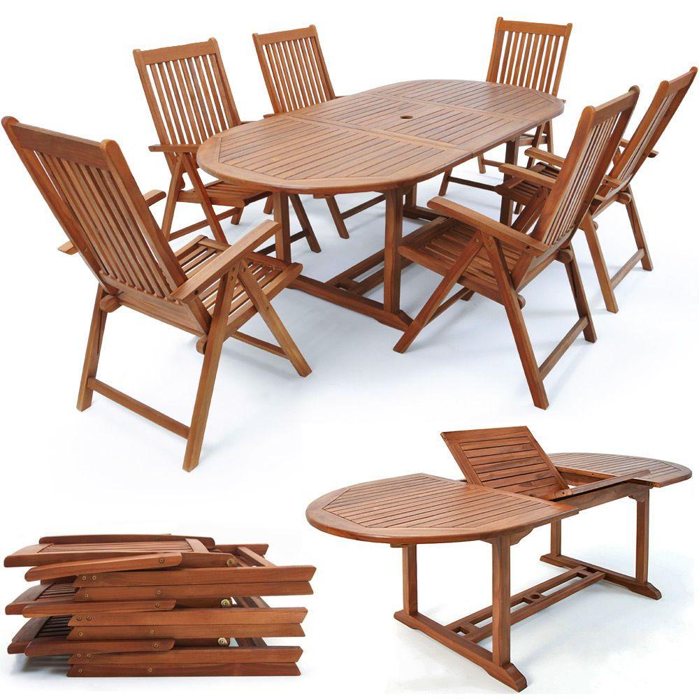 Garden Furniture Set Vanamo Fsc Certification 1 Table 6 Chairs Eucalyptus Wooden Garden Furniture Garden Furniture Sets Table