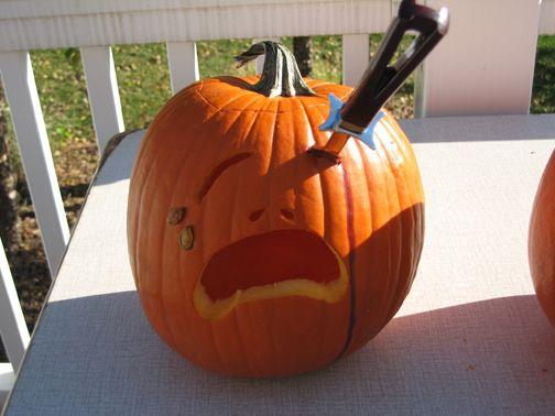 Simple Pumpkin Carving Idea