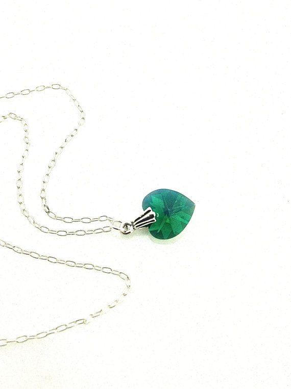Emerald Necklace Green Heart #emerald #heart by UrbanClink