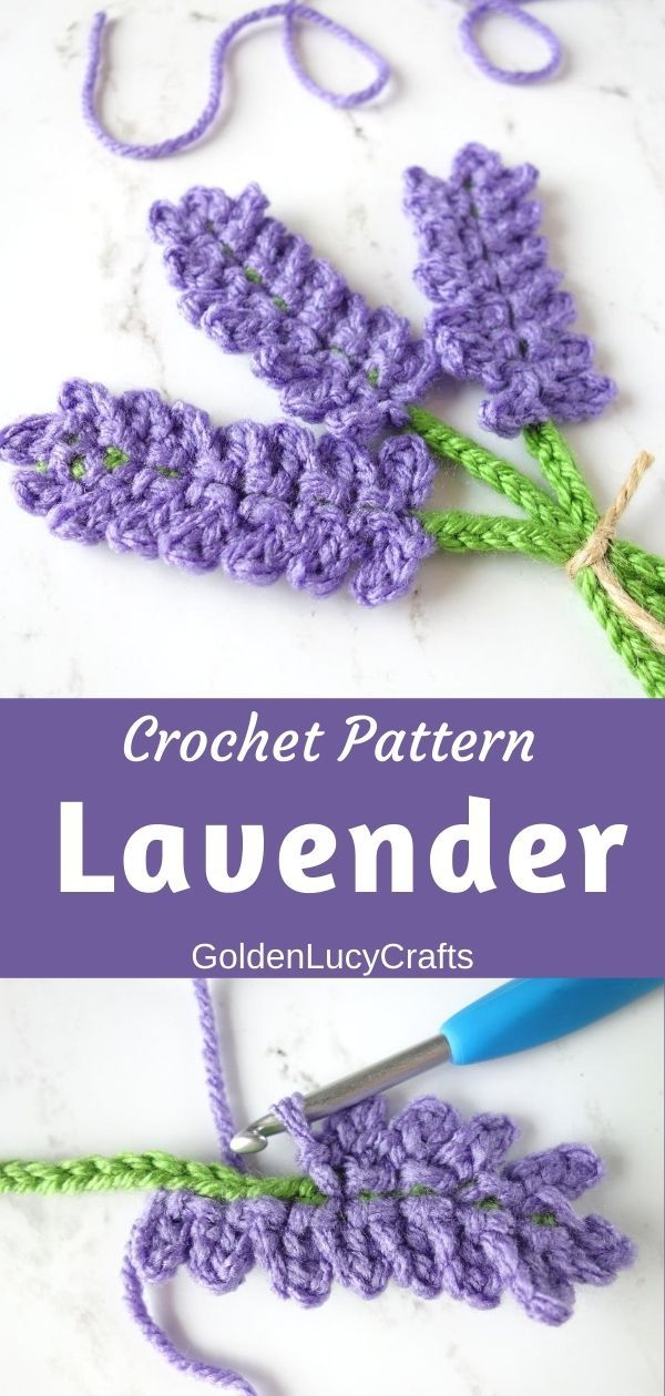 Photo of Lavender Applique Crochet Pattern