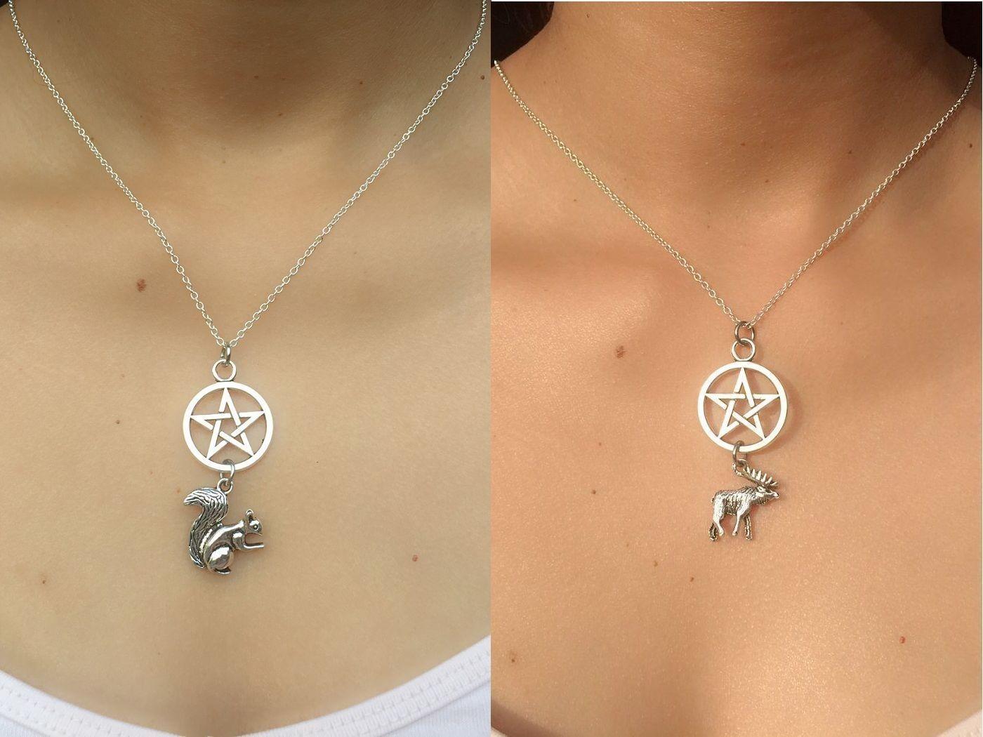 Sam n Dean (Supernatural) Inspired Moose n Squirrel (2) Friendship Necklaces. | eBay