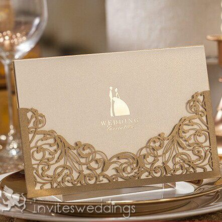 Clic Bride And Groom Laser Cut Wedding Cards Iwsm007 Invitations Online Invitesweddings