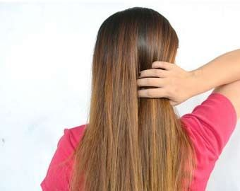 Get permanent straight hair without any cream, lotion or iron. Use rubber bands # ...