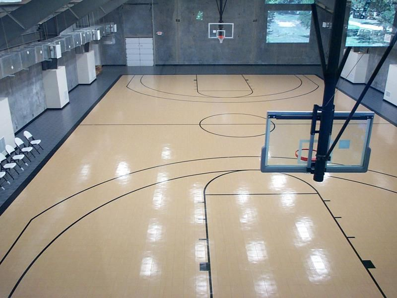 Indoor basketball court a t h l e t i c pinterest How much does a sport court cost
