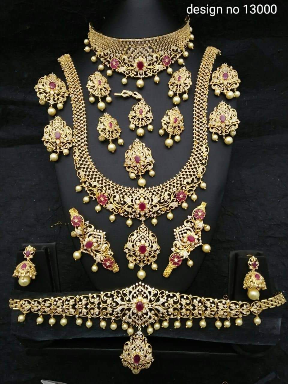Bridal Jewelry Rental Whatsapp 9894424770 Bridal Jewelry Gold Jewellery Design Gold Jewelry Necklace