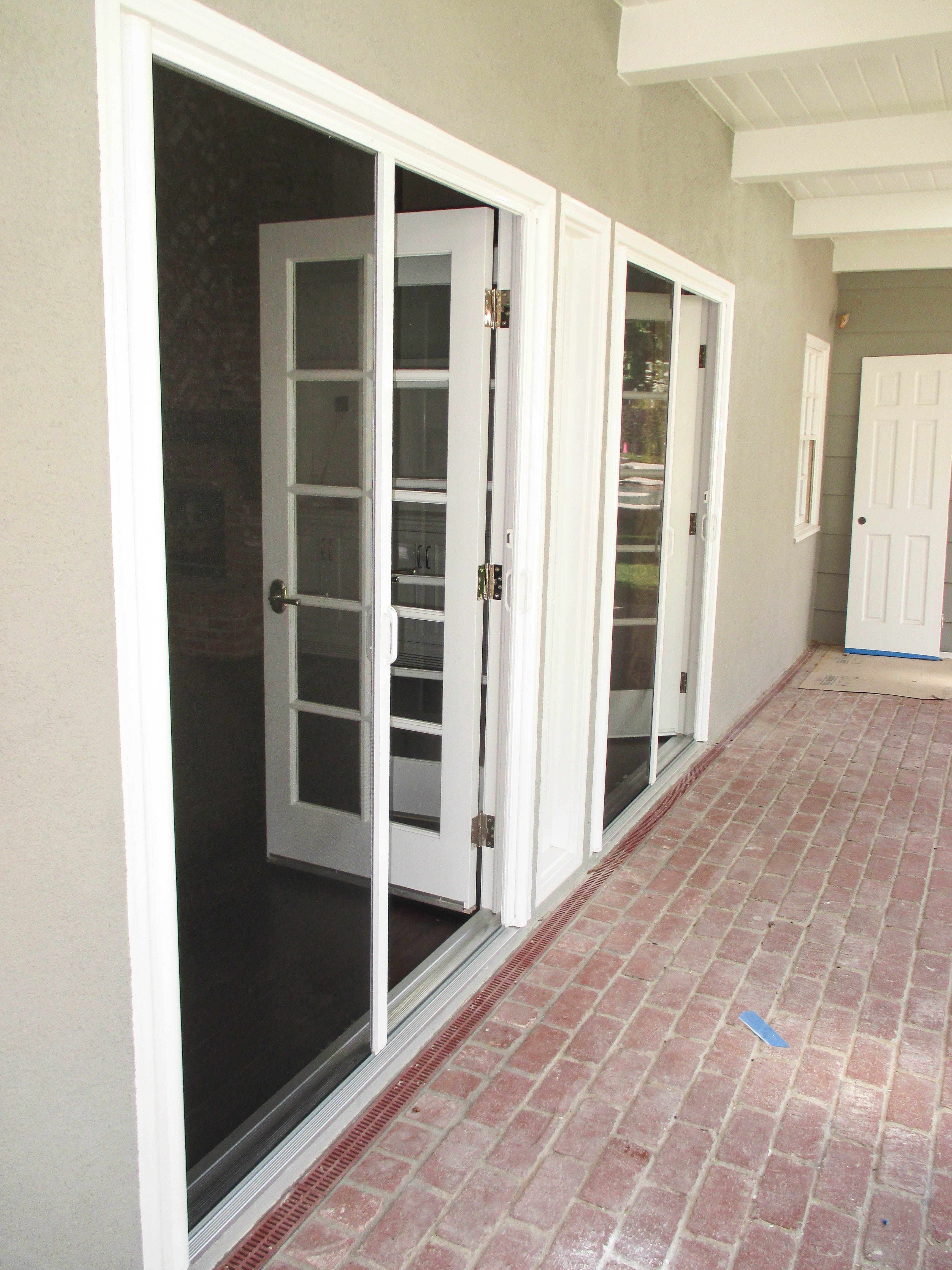 Check Out This Pair Of Double Door Inswing Bright White Stowaway Retractable Screen Doors That Our Team Retractable Screen Door Screen Door Retractable Screen