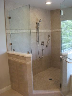 This New Scv Bath Remodel Features A Large Walk In Shower