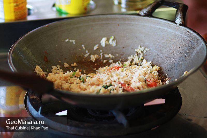 Khao Pad - как приготовить тайский жареный рис