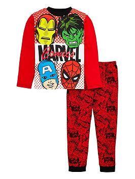 Boys Avengers Capt America Hulk Print Pajamas Age 4 to 10 Years