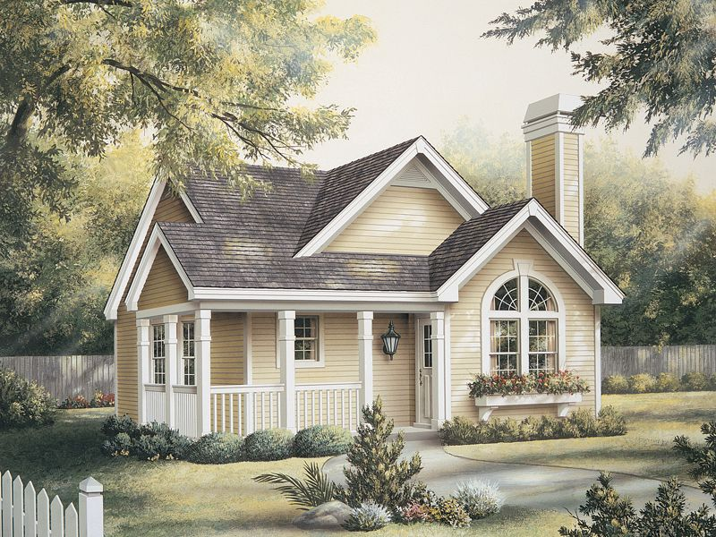 House plans one story cottage home