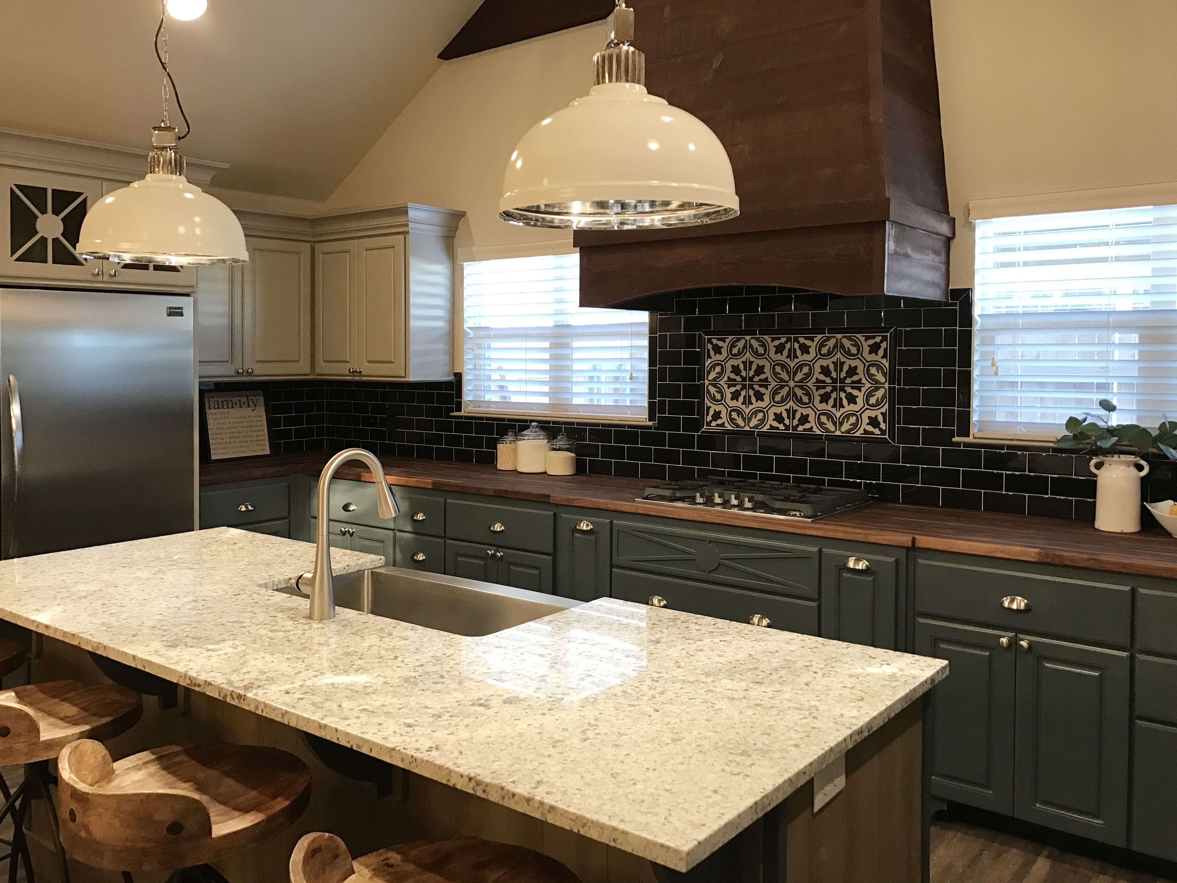 Kitchen By Ventura Homes In Lubbock, Texas / Industrial Kitchen / Rustic /  Blue Painted