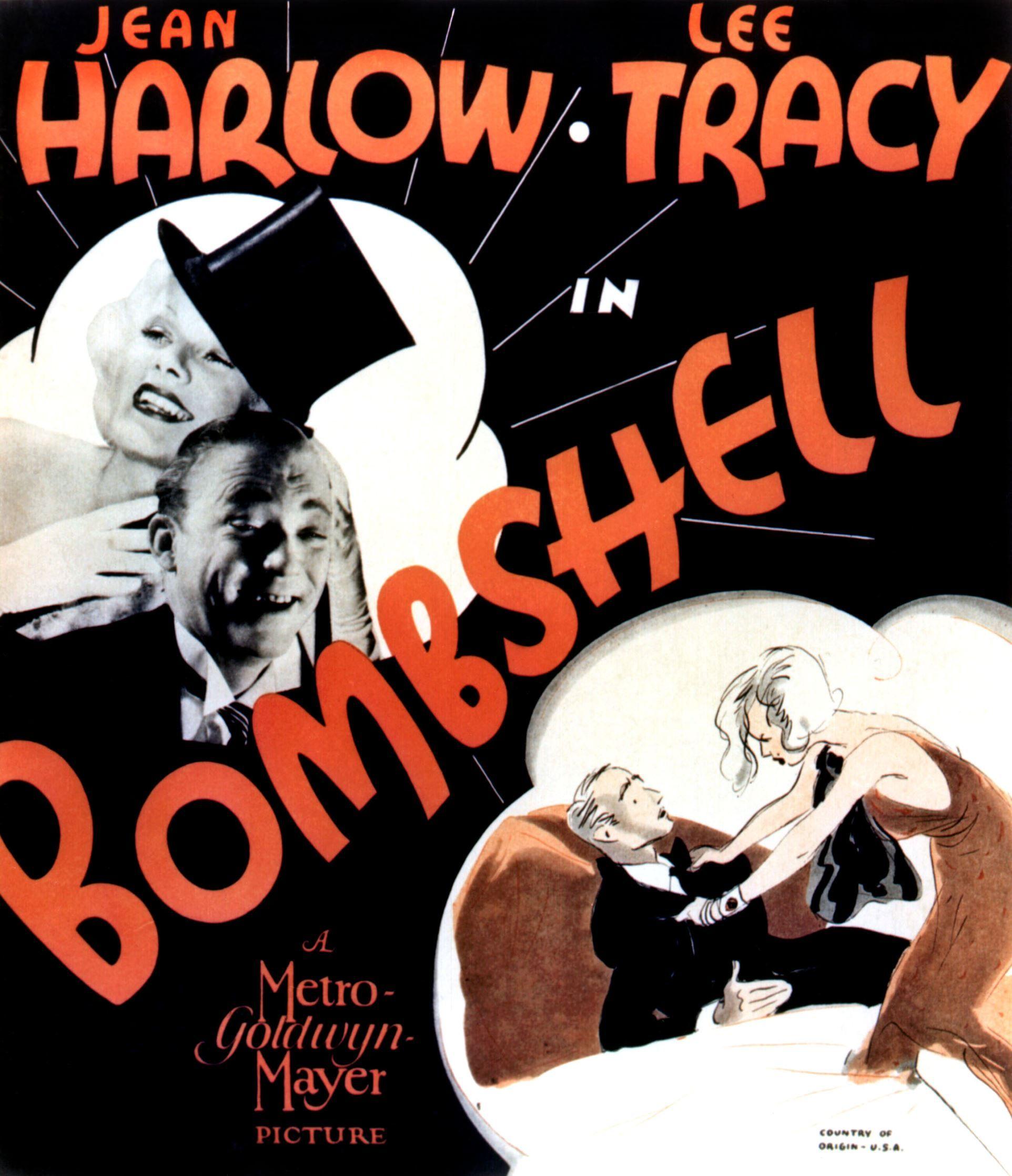 Bombshell Jean Harlow vintage movie poster