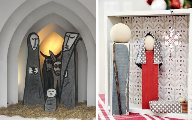 Ideas para decorar con belenes de navidad originales for Ideas originales para decorar en navidad
