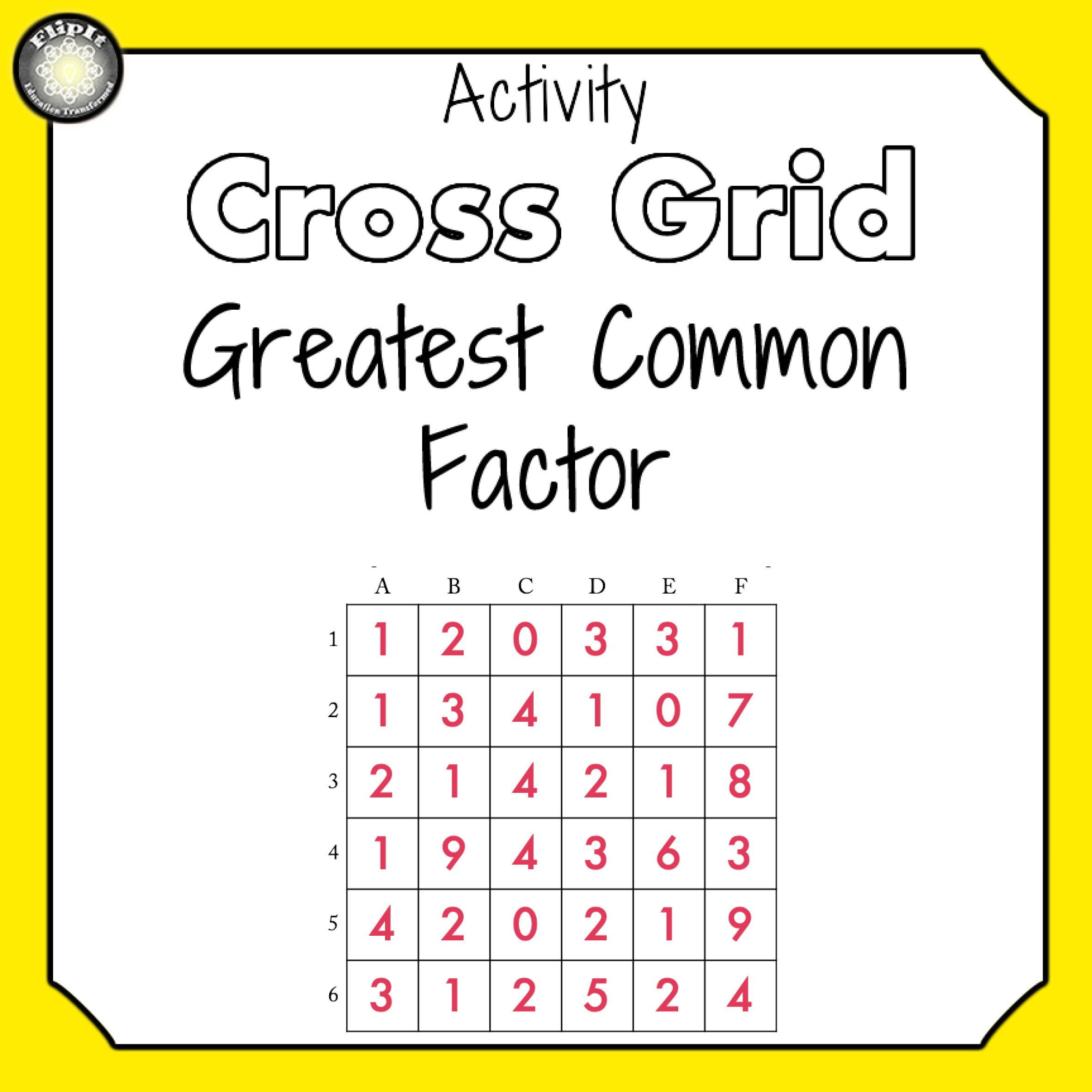 Greatest Common Factor In