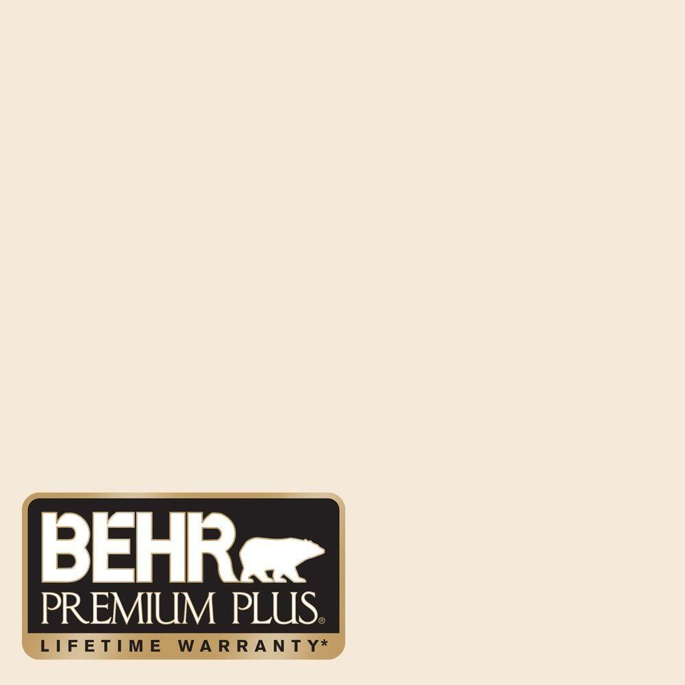 Behr Premium Plus 8 Oz 1870 Linen White Flat Zero Voc Interior Exterior Paint And Primer In One Sample