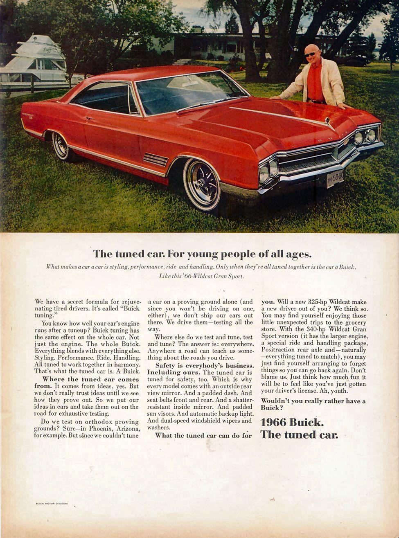 1966 Buick : buick, Buick, Ad-08, Buick,, Wildcat,, Automobile, Advertising