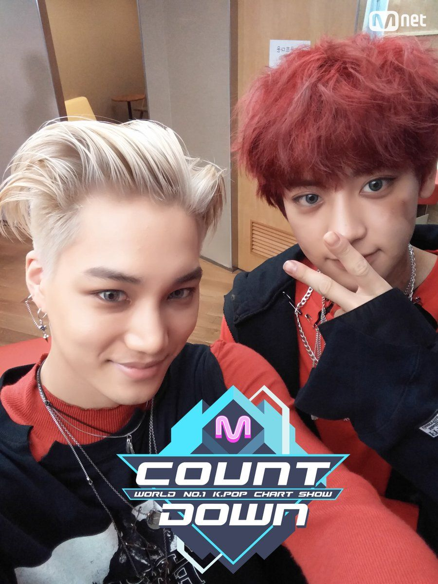 Kai And Chanyeol Mcountdown Selfie EXO
