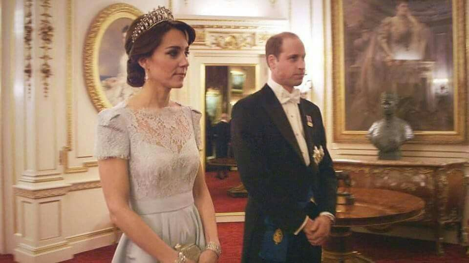 From last December's diplomatic reception at  Buckingham Palace wearing Alexander McQueen ! Stunning!